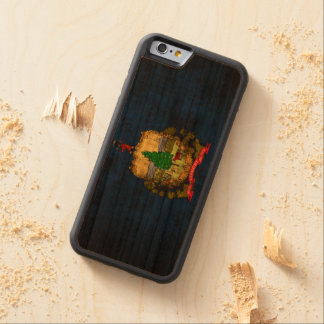 Vintage Grunge State Flag of Vermont Carved® Cherry iPhone 6 Bumper Case