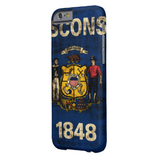 Vintage Grunge State Flag of Wisconsin Barely There iPhone 6 Case