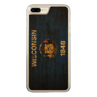 Vintage Grunge State Flag of Wisconsin Carved iPhone 8 Plus/7 Plus Case