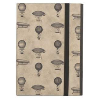 Vintage Grunge Steampunk Airships Pattern iPad Air Cover