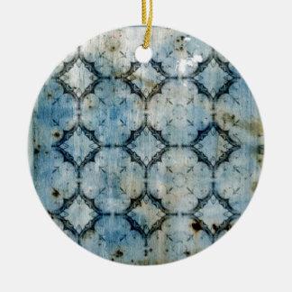 Vintage Grunge Texture Ceramic Ornament