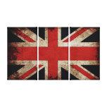 Vintage Grunge UK Flag Canvas Print