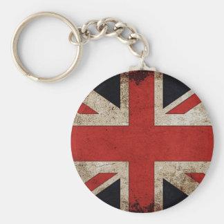 Vintage Grunge UK Flag Keychain