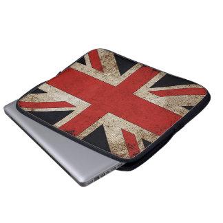 Vintage Grunge UK Flag Laptop Sleeve