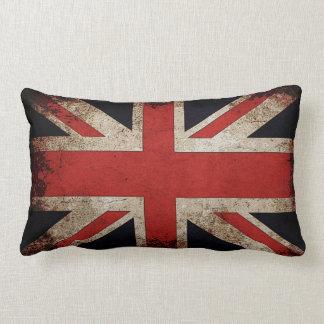 Vintage Grunge UK Flag Throw Pillow