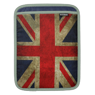 Vintage Grunge UK Union Jack Flag Sleeve For iPads