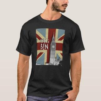 Vintage Grunge  Union Jack Big Ben T-Shirt