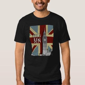Vintage Grunge  Union Jack Big Ben Tee Shirt