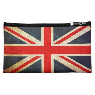 Vintage Grunge Union Jack UK FLAG Makeup Bag