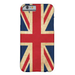 Vintage Grunge United Kingdom Flag Union Jack Barely There iPhone 6 Case
