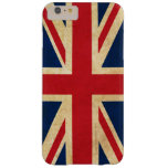 Vintage Grunge United Kingdom Flag Union Jack Barely There iPhone 6 Plus Case