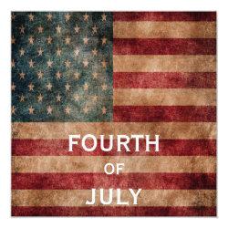 Vintage Grunge USA Stars & Stripes 4th Of July Card