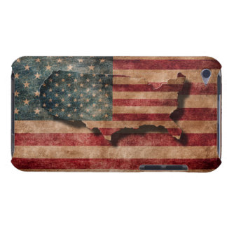 Vintage Grunge USA Stars & Stripes Flag and Map Barely There iPod Cover