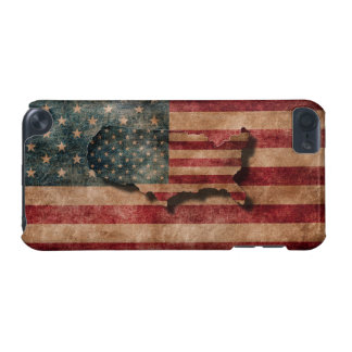 Vintage Grunge USA Stars & Stripes Flag and Map iPod Touch (5th Generation) Cover