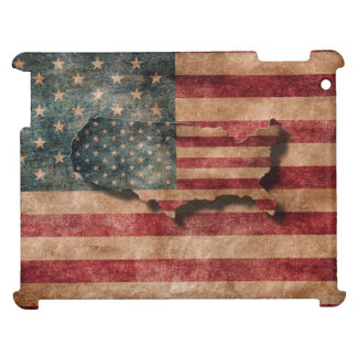Vintage Grunge USA Stars & Stripes Flag and Map Case For The iPad