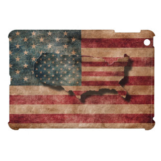 Vintage Grunge USA Stars & Stripes Flag and Map Cover For The iPad Mini