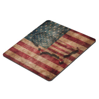 Vintage Grunge USA Stars & Stripes Flag and Map Puzzle Coaster