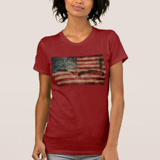 Vintage Grunge USA Stars & Stripes Flag and Map T-Shirt