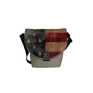 Vintage Grunge USA Stars & Stripes Flag Courier Bag