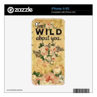 Vintage,grunge,victorian,french,floral,romantic iPhone 4 Decals