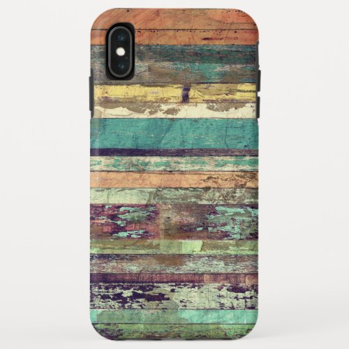 Vintage Grunge Woodgrain Mixed Color Phone Case