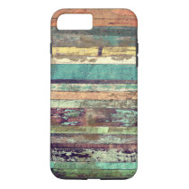 Vintage Grunge Woodgrain Mixed Color iPhone 8 Plus/7 Plus Case