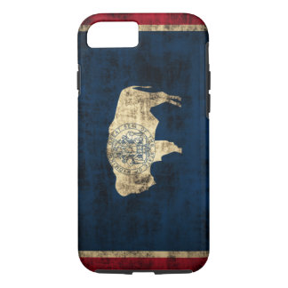 Vintage Grunge Wyoming State Flag iPhone 8/7 Case
