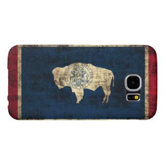 Vintage Grunge Wyoming State Flag Samsung Galaxy S6 Case