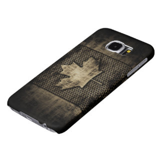 Vintage Grungy Metal Look Canadian Flag Samsung Galaxy S6 Case