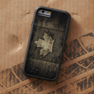 Vintage Grungy Metal Look Canadian Flag Tough Xtreme iPhone 6 Case