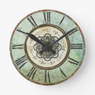 Vintage Grungy Round Wall Clock