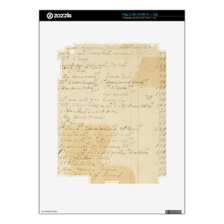 Vintage Grungy Stained Ledger Journal Background iPad 2 Skins