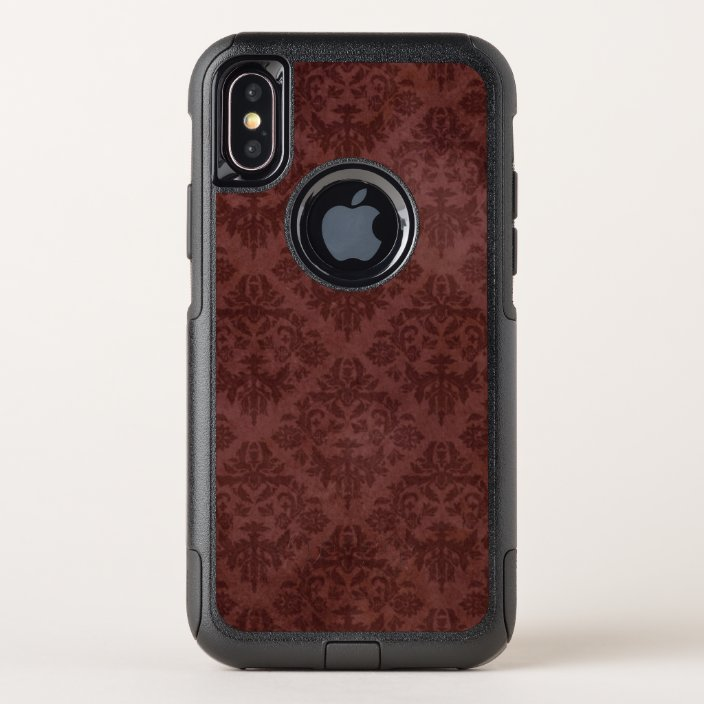 Vintage Grungy Worn Red Floral Wallpaper Otterbox Iphone Case Zazzle Com