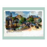 Vintage Gruss aus Bremerhaven Geestebrücke litho Post Card