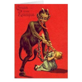 Vintage Gruss Vom Krampus Greeting Card