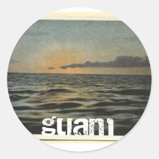 Vintage Guam Sunset Stickers