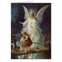 Vintage Guardian Angel and Children