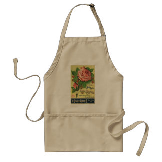 Vintage Guide to Rose Culture Book Cover Art, 1891 Adult Apron