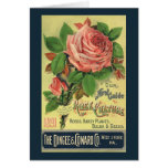 Vintage Guide to Rose Culture Book Cover Art, 1891 Card