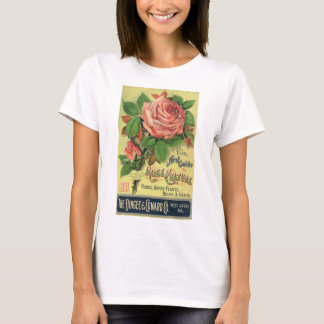 Vintage Guide to Rose Culture Book Cover Art, 1891 T-Shirt