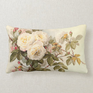 Vintage Guinevere Roses Throw Pillow
