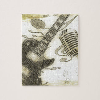 Vintage Guitar and Microphone Puzzles