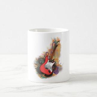 Vintage Guitar - custom background mugs