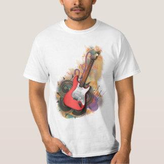Vintage Guitar - custom background t-shirts