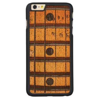Vintage Guitar Frets Carved® Cherry iPhone 6 Plus Case