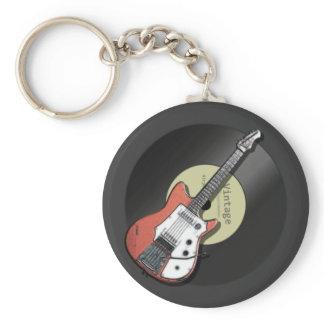 Vintage Guitar Keychain