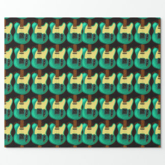 VINTAGE GUITAR MATTE WRAPPED PAPER WRAPPING PAPER