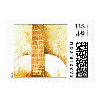 Vintage Guitar Postage Stamp