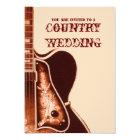 vintage Guitar Western Country Wedding Invitation