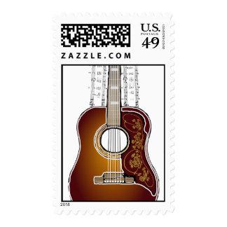 Vintage Guitar with Seet Music  -Postage